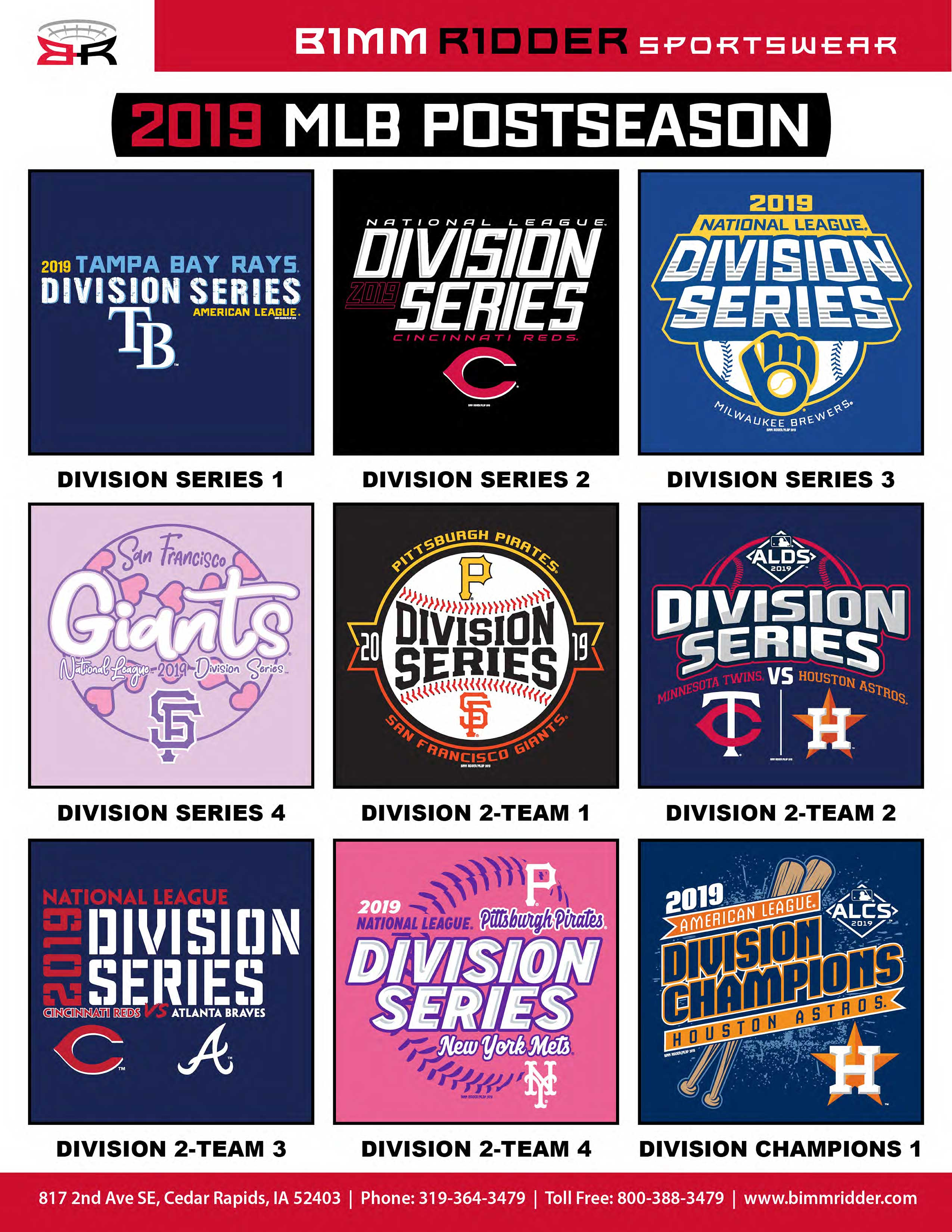 Bimm Ridder Sportswear | MLB | Team Apparel Company